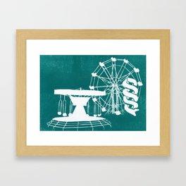Seaside Fair in Turquoise Framed Art Print