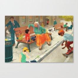 The block Canvas Print
