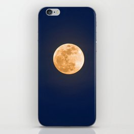 """""""January Blue Moon"""" with poem: Any Mysteries iPhone Skin"""
