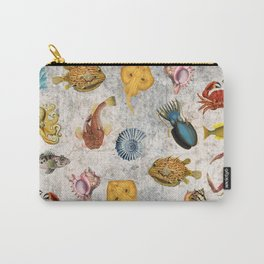 Sea World Vintage Pattern Carry-All Pouch