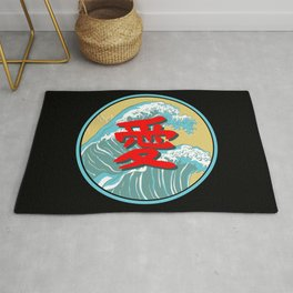 Japanese Word for Love Kanji Asian Symbol Gift Rug