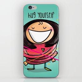 Hug Yourself #happywoman iPhone Skin