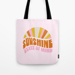 sunshine state of mind, type Tote Bag