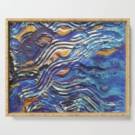 Abstract nautical background Serving Tray