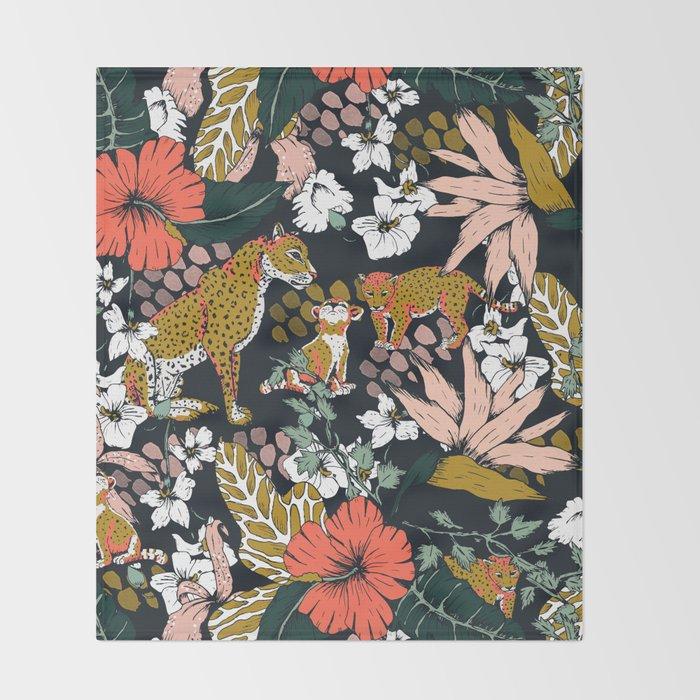 Animal print dark jungle Decke