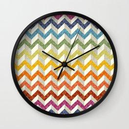 Chevron Rainbow Wall Clock
