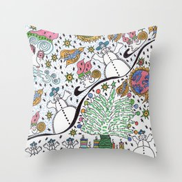 SledScape Throw Pillow