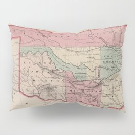 Vintage Map of Oklahoma (1869) Pillow Sham