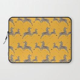 Royal Tenenbaums Zebra Wallpaper - Mustard Yellow Laptop Sleeve