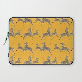 Royal Tenenbaums Zebra Wallpaper - Mustard Yellow Laptop Sleeve