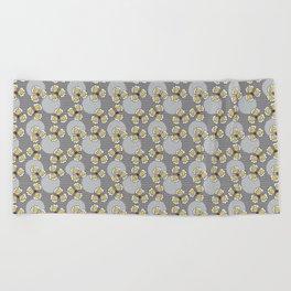 MAYA - Grey & Yellow Beach Towel