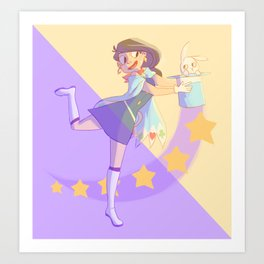 a magician and her assistant Art Print