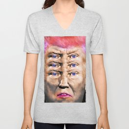 """Trump's Alternative Facts: """"I don't believe anything, I see things"""". Unisex V-Neck"""