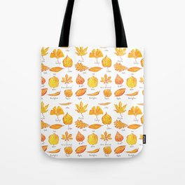 yellow leaves collection Tote Bag