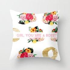 Girl, You Are A Boss Throw Pillow