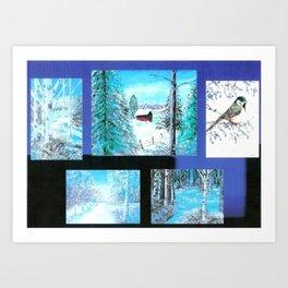 """ Winter Collage II "" Art Print"