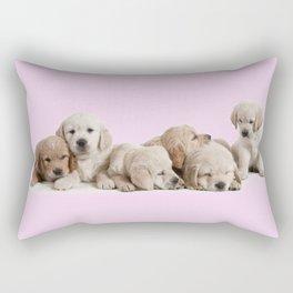 Golden Retriever Puppies Rectangular Pillow