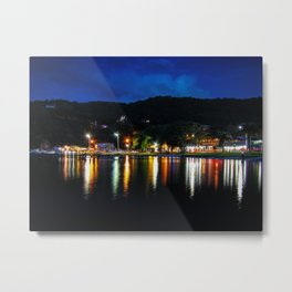 Lagoon Lights Metal Print
