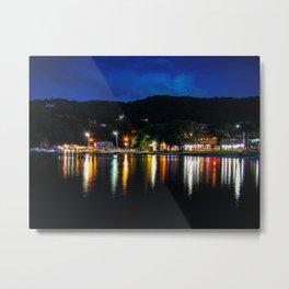 Lagoon Lights Metal Print