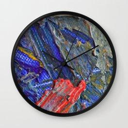 Red stroke Wall Clock