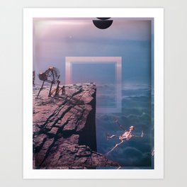 A Little Push, A Big Fall Art Print