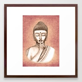 Buddha Shh.. Do not disturb - Colored version Framed Art Print