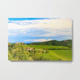 The beautiful vineyard of Collio, Friuli Venezia-Giulia, Italy Metal Print