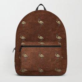 Gold Flamingo Fall Cloud Backpack