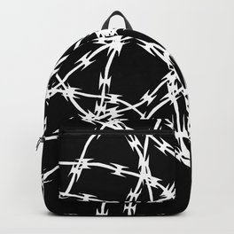 Trapped White on Black Backpack