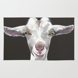 Patsy the fabulously sophisticated Goat  Rug