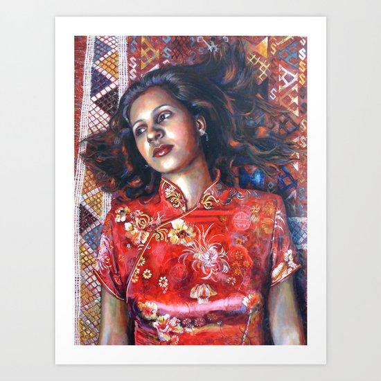La Alfombra Roja (The Red Rug) Art Print