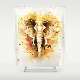 """""""Into the mirror"""" n°4 The elephant Shower Curtain"""