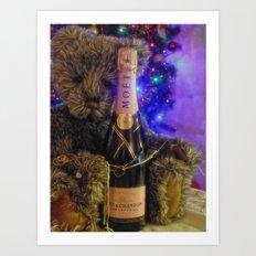 Happy new year Brendan Bear Art Print