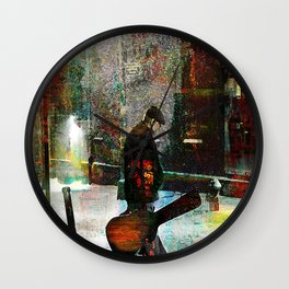 The guitarist Wall Clock