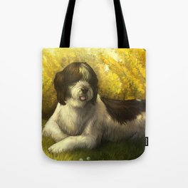 Jake: Sheepdog Portrait Tote Bag