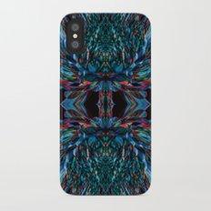 Electric Blue Petals Slim Case iPhone X