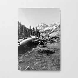 Maroon Bells Mountains Colorado Metal Print