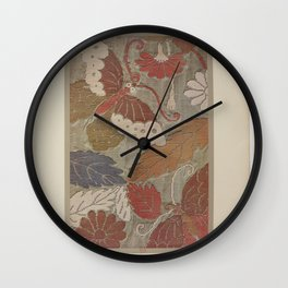 Verneuil - Japanese paper and fabric designs (1913) - 61: Butterflies and foliage Wall Clock