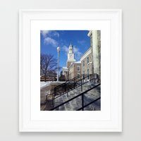 college Framed Art Prints featuring College Life by R.S.Burrell