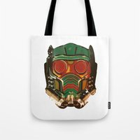 star lord Tote Bags featuring Star Lord by R. Cuddi