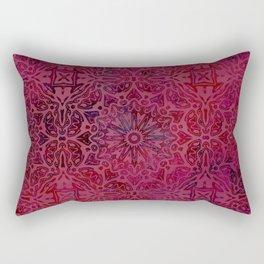 Retro Red textured oriental pattern Rectangular Pillow