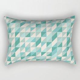 Hashed Blue Rectangular Pillow