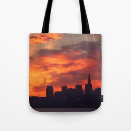 A Dragon over San Francisco Tote Bag