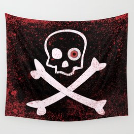 Jolly Roger With Eyeballs Wall Tapestry