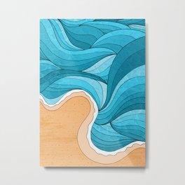Beach Tide Metal Print