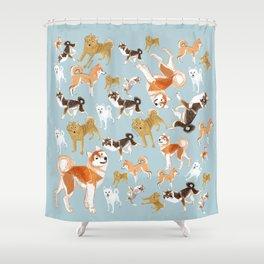 Japanese Dog Breeds Shower Curtain