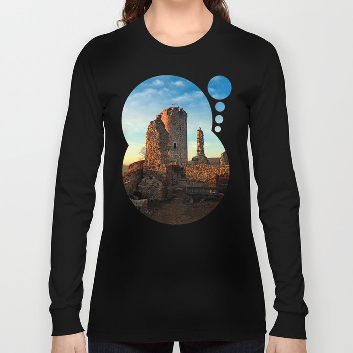 The ruins of Waxenberg castle | architectural photography Long Sleeve T-shirt