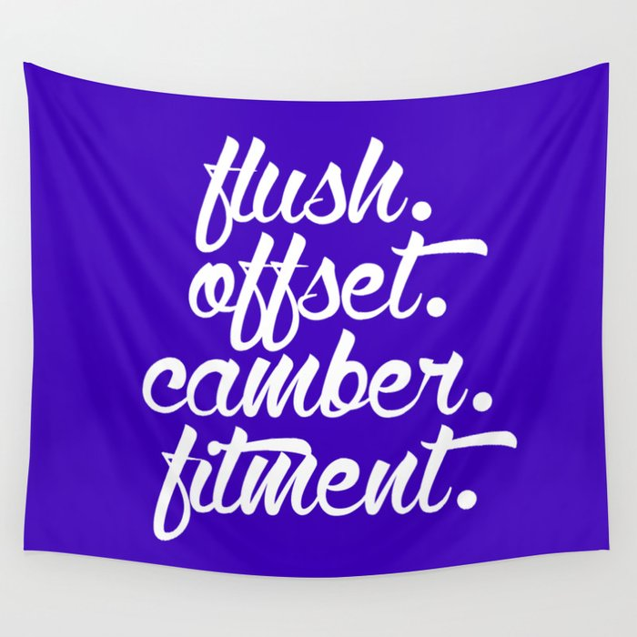 flush offset camber fitment v6 HQvector Wall Tapestry