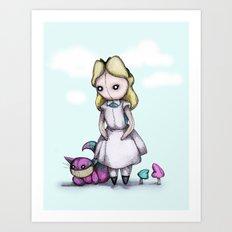 Plush Alice Art Print