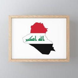 Flag Map of Iraq  Framed Mini Art Print